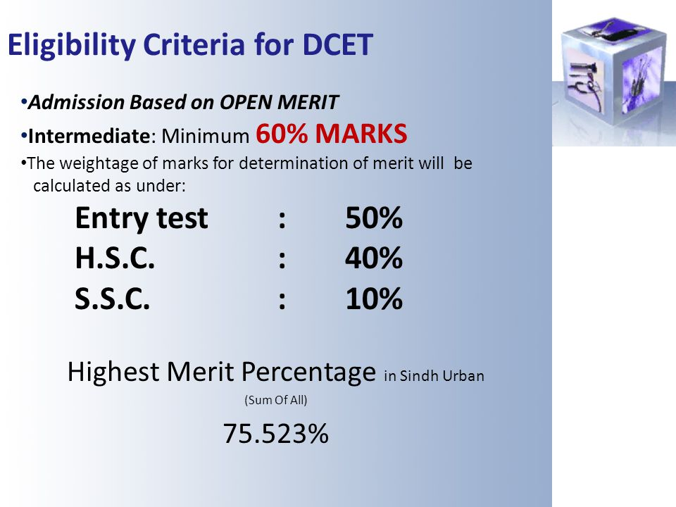 Highest Merit Percentage in Sindh Urban
