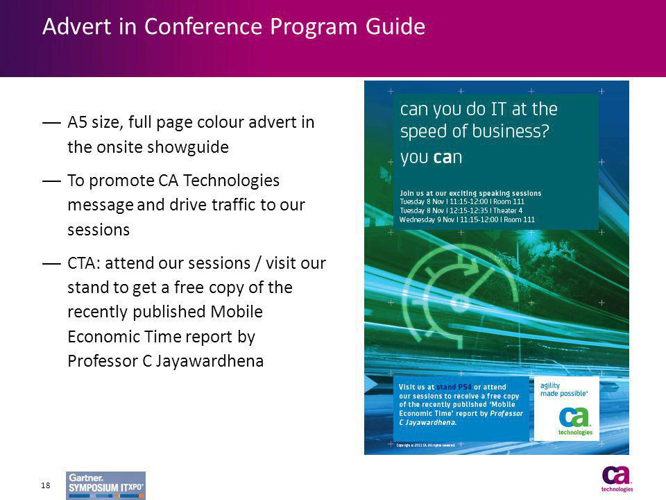 Advert in Conference Program Guide