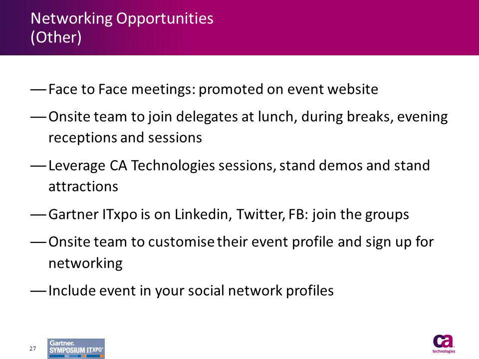 Networking Opportunities (Other)