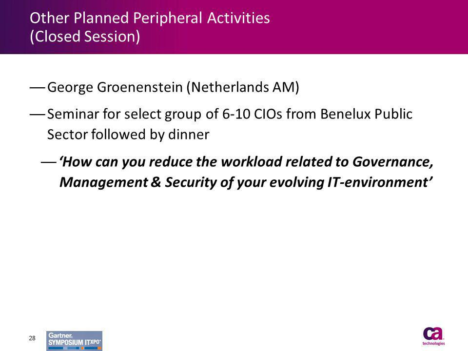 Other Planned Peripheral Activities (Closed Session)