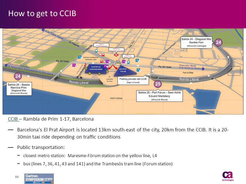 How to get to CCIB CCIB – Rambla de Prim 1-17, Barcelona