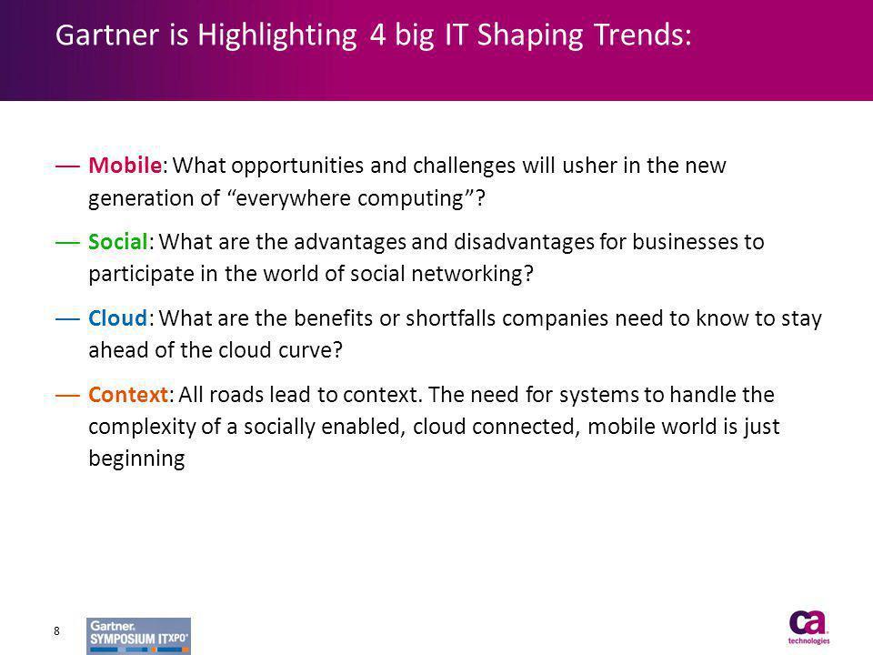 Gartner is Highlighting 4 big IT Shaping Trends: