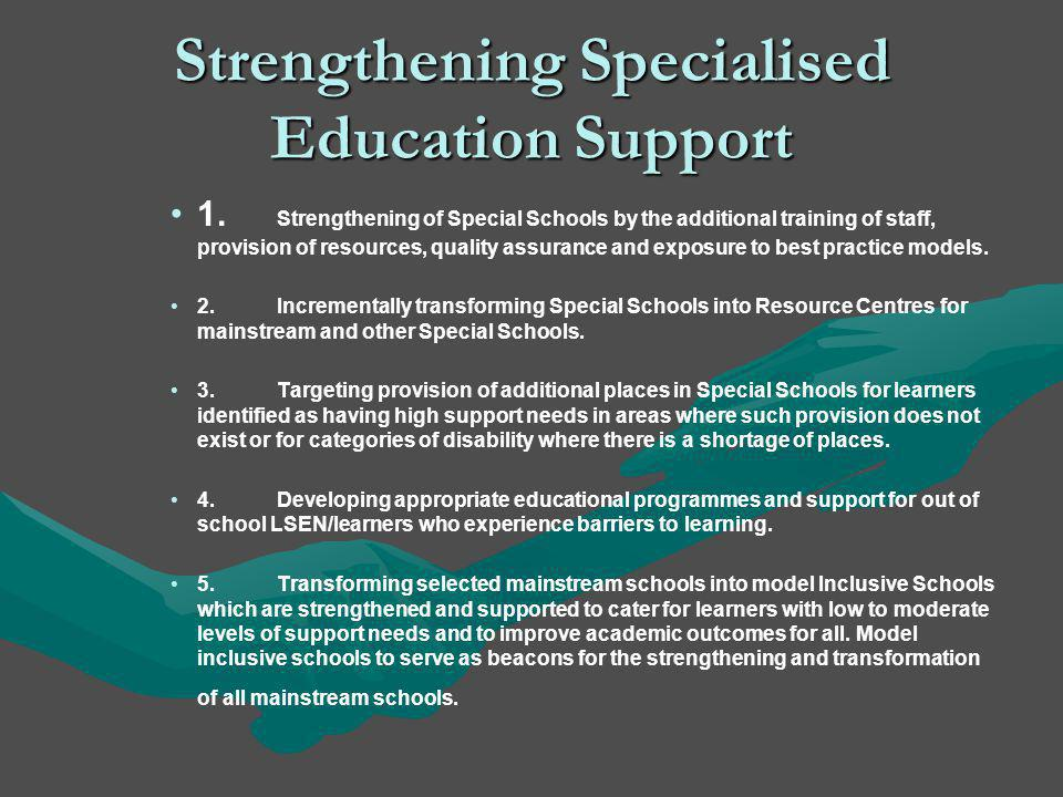 Strengthening Specialised Education Support