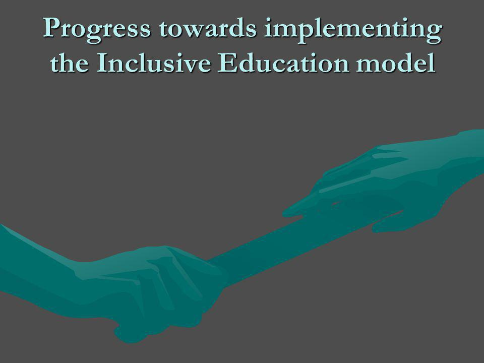Progress towards implementing the Inclusive Education model