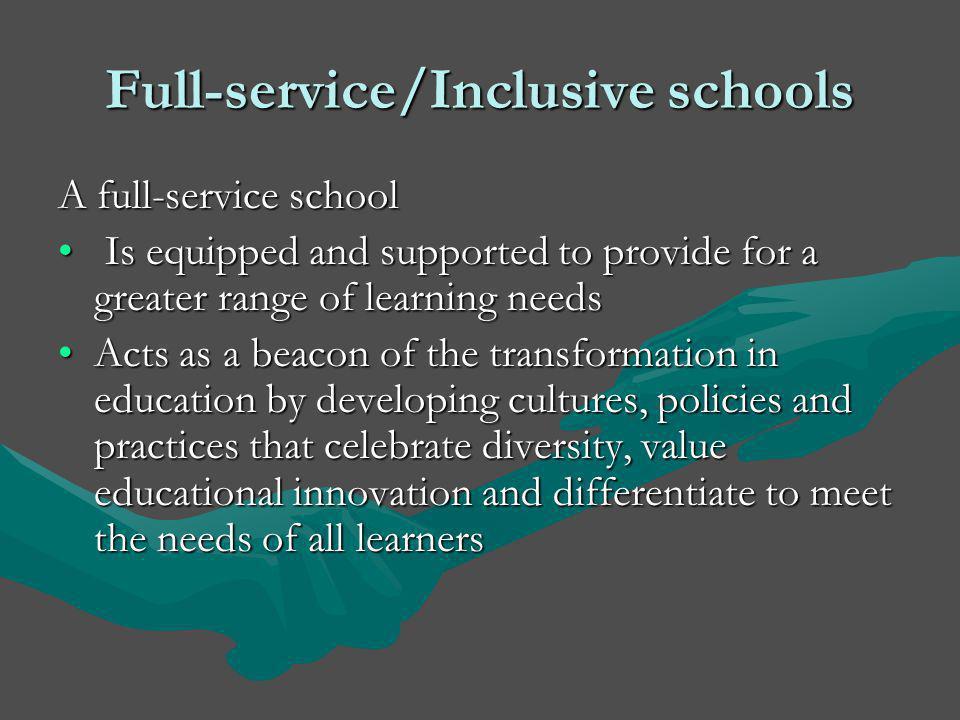 Full-service/Inclusive schools
