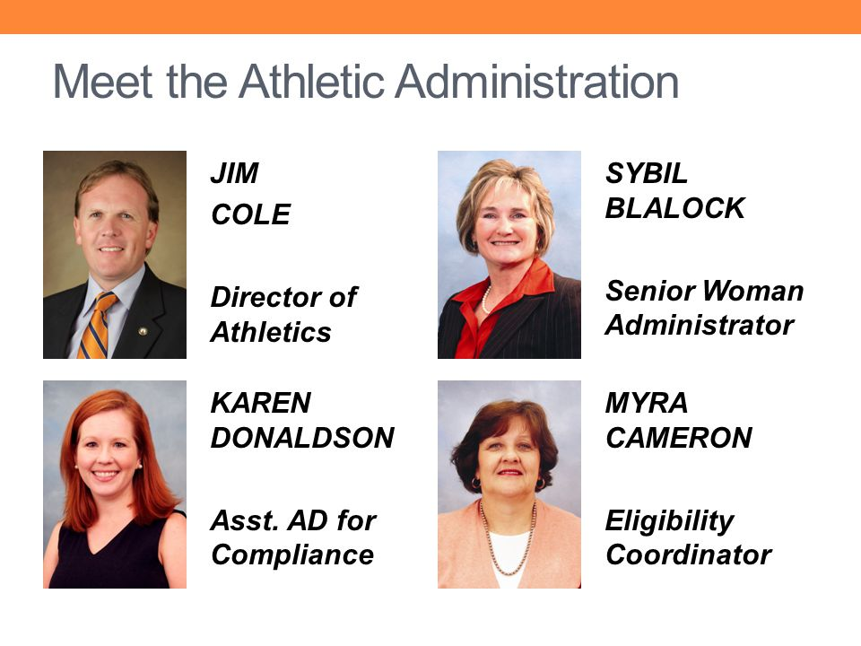 Meet the Athletic Administration