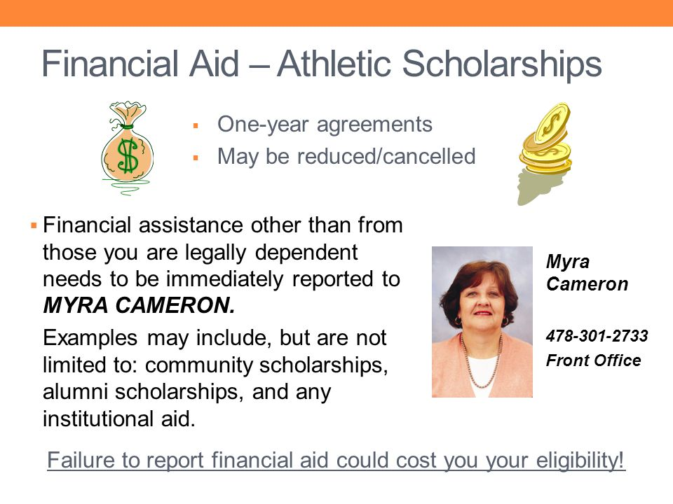 Financial Aid – Athletic Scholarships