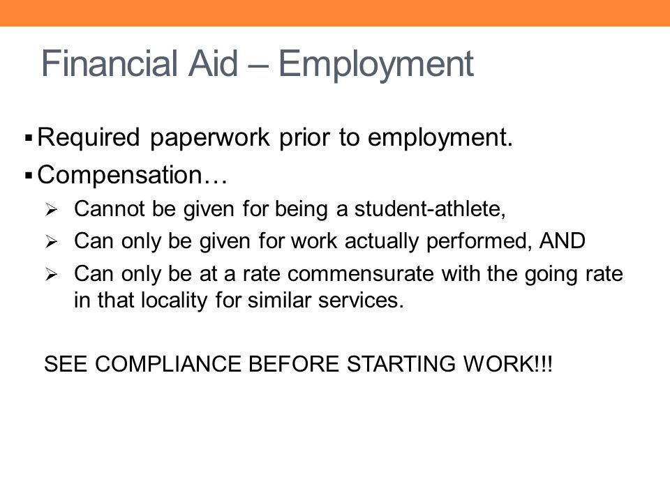 Financial Aid – Employment