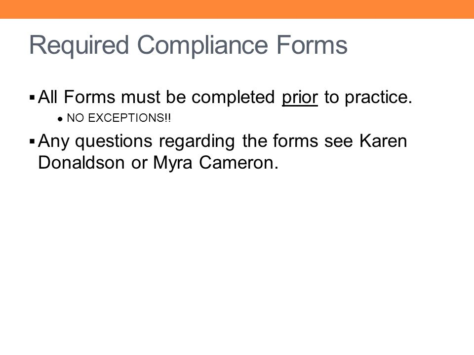 Required Compliance Forms