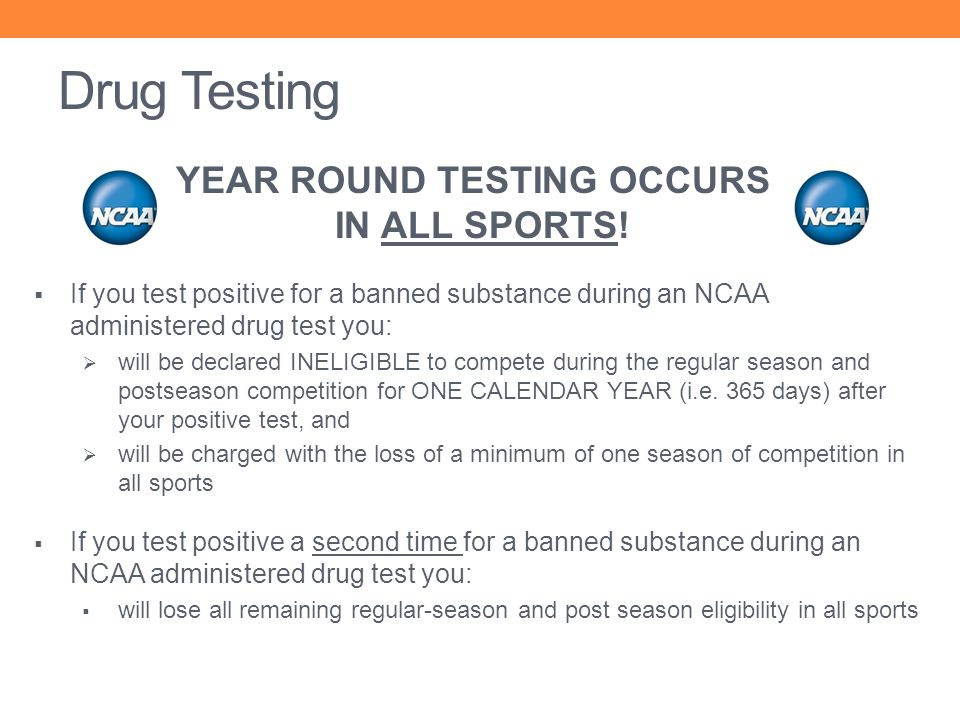 YEAR ROUND TESTING OCCURS IN ALL SPORTS!