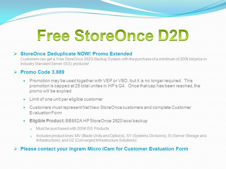 Free StoreOnce D2D
