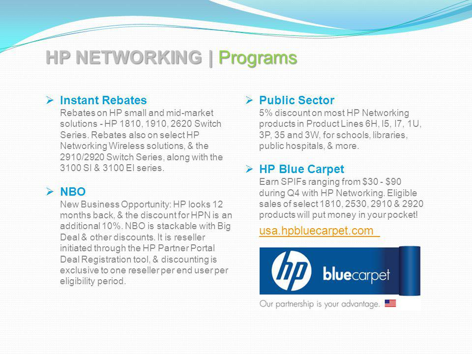 HP NETWORKING | Programs