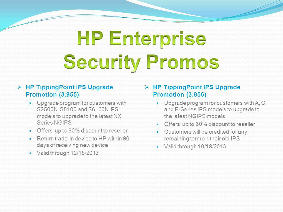 HP Enterprise Security Promos