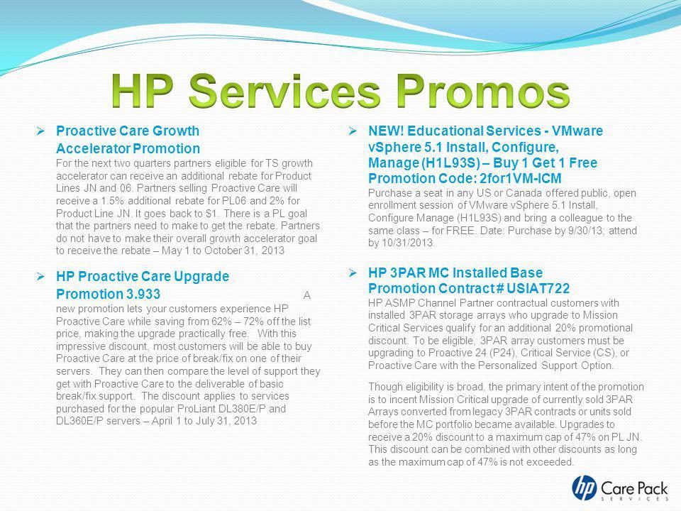 HP Services Promos
