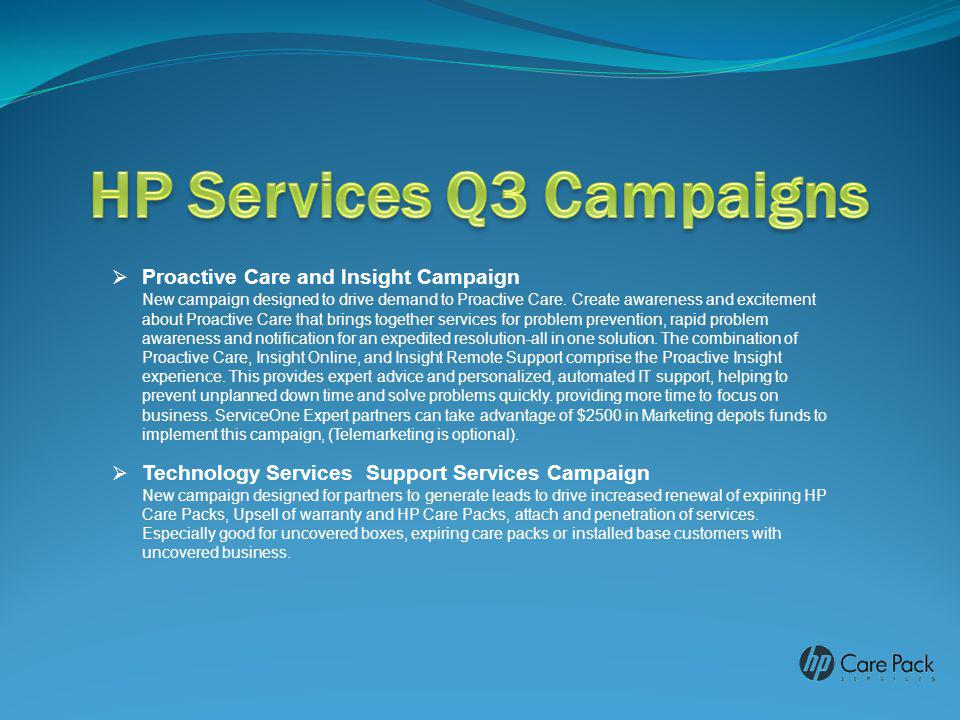 HP Services Q3 Campaigns