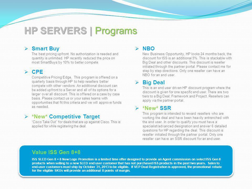 HP SERVERS | Programs
