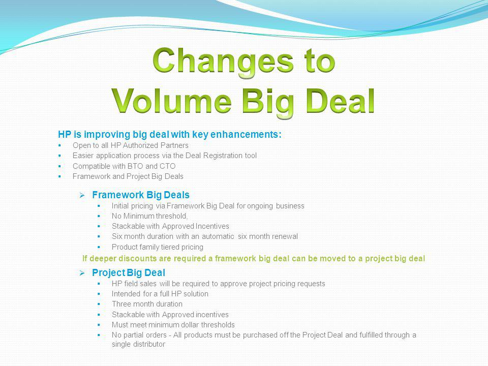 Changes to Volume Big Deal