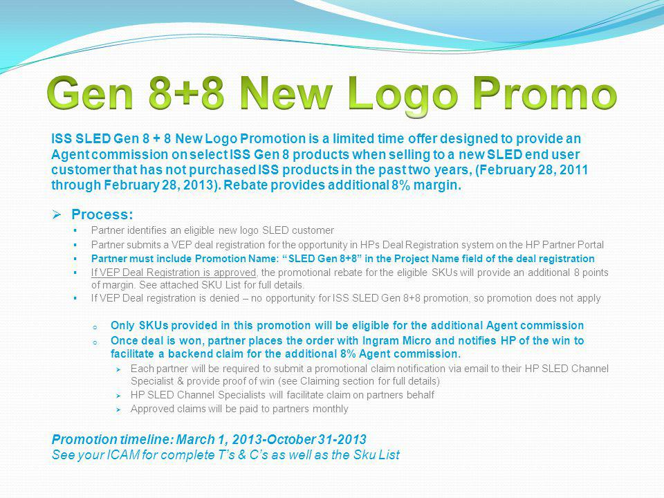 Gen 8+8 New Logo Promo Process: