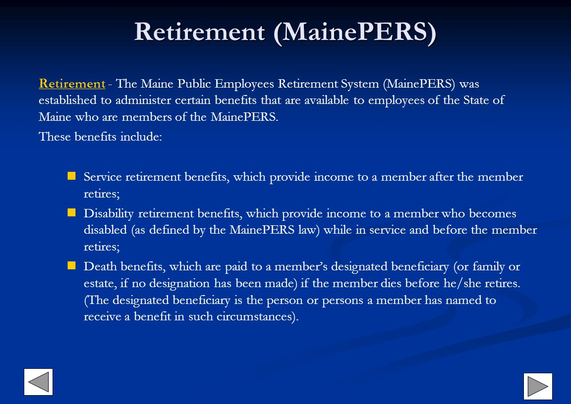 Retirement (MainePERS)