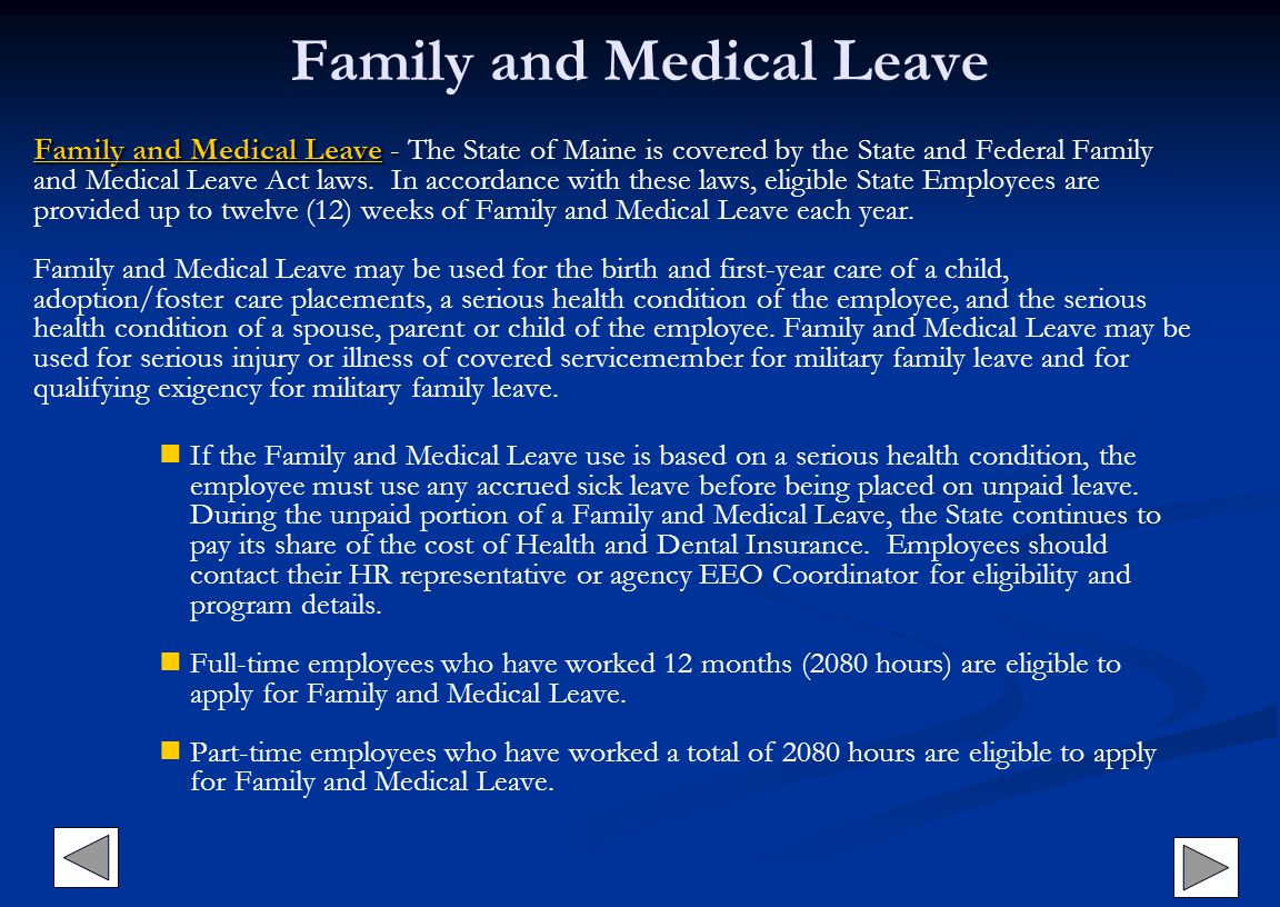 Family and Medical Leave