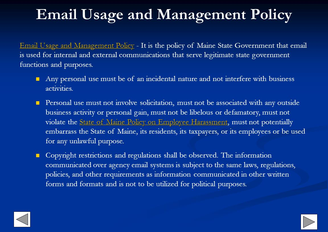 Email Usage and Management Policy