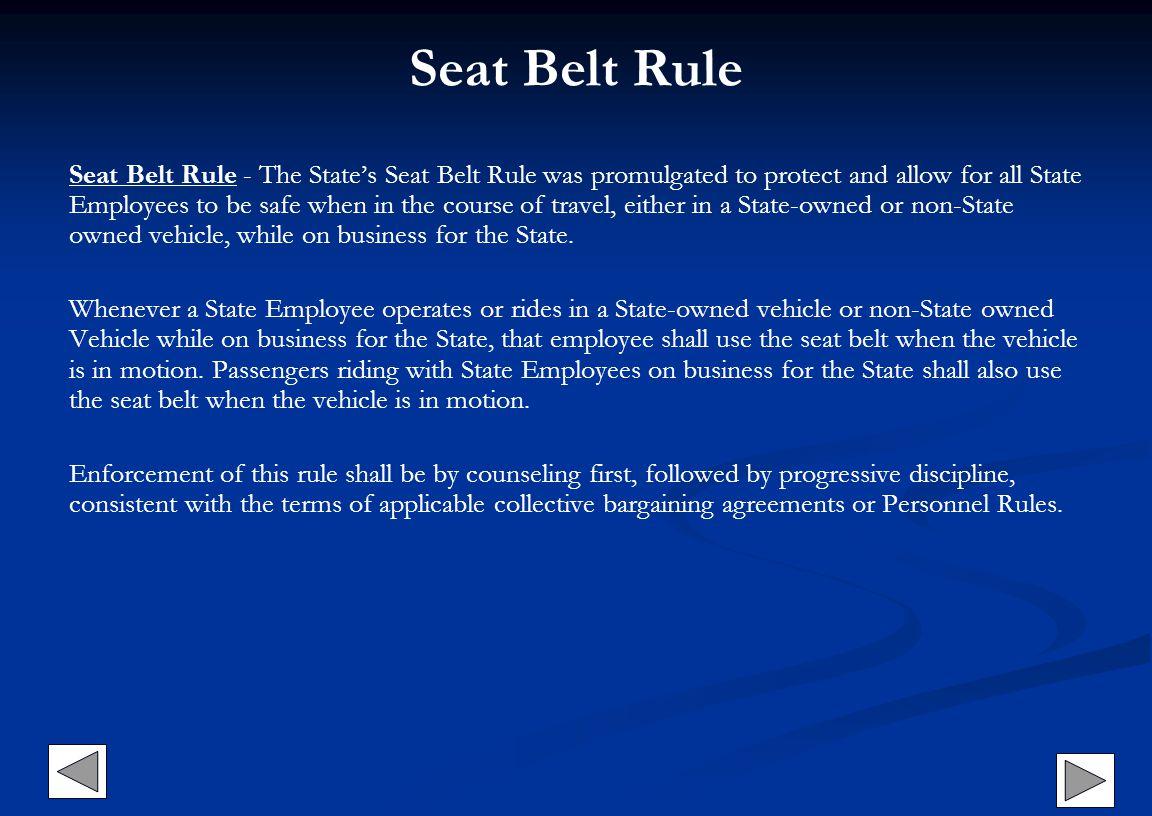 Seat Belt Rule