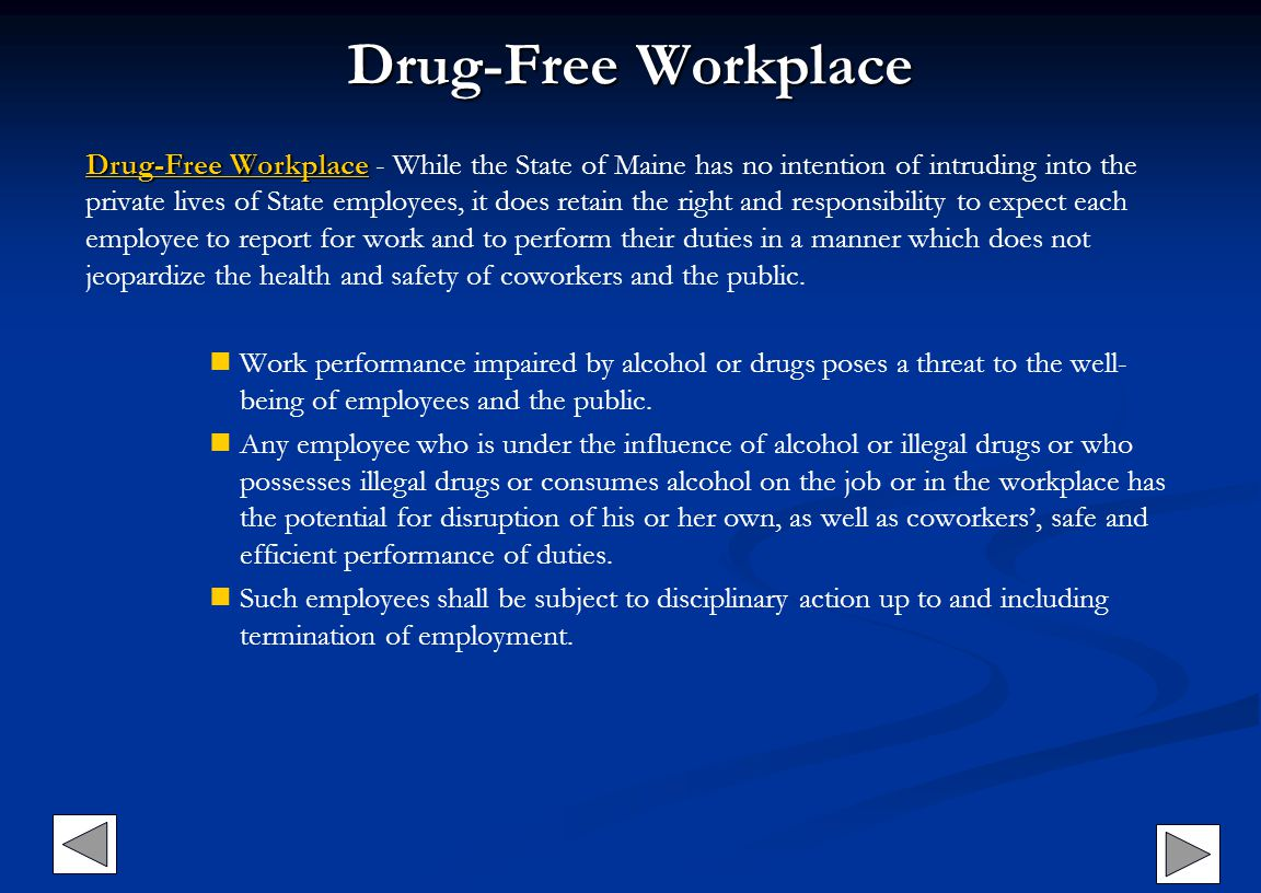 Drug-Free Workplace