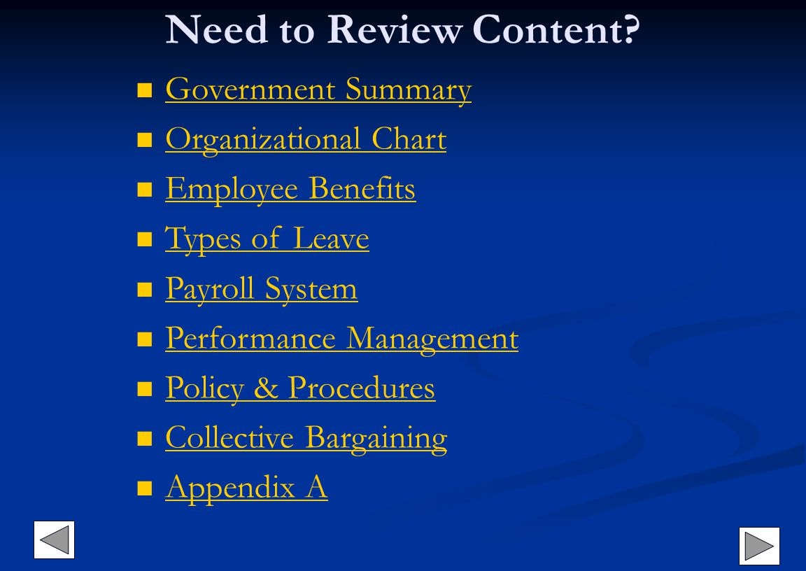 Need to Review Content Government Summary Organizational Chart