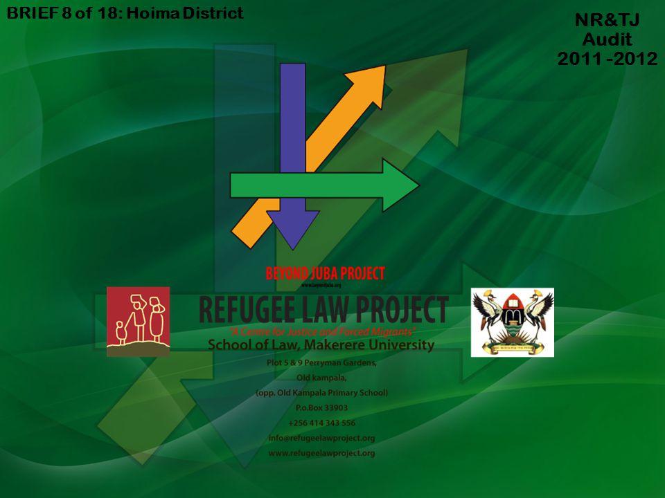 BRIEF 8 of 18: Hoima District