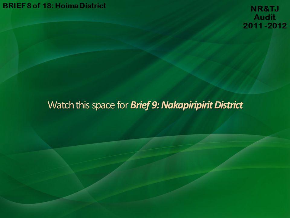 Watch this space for Brief 9: Nakapiripirit District