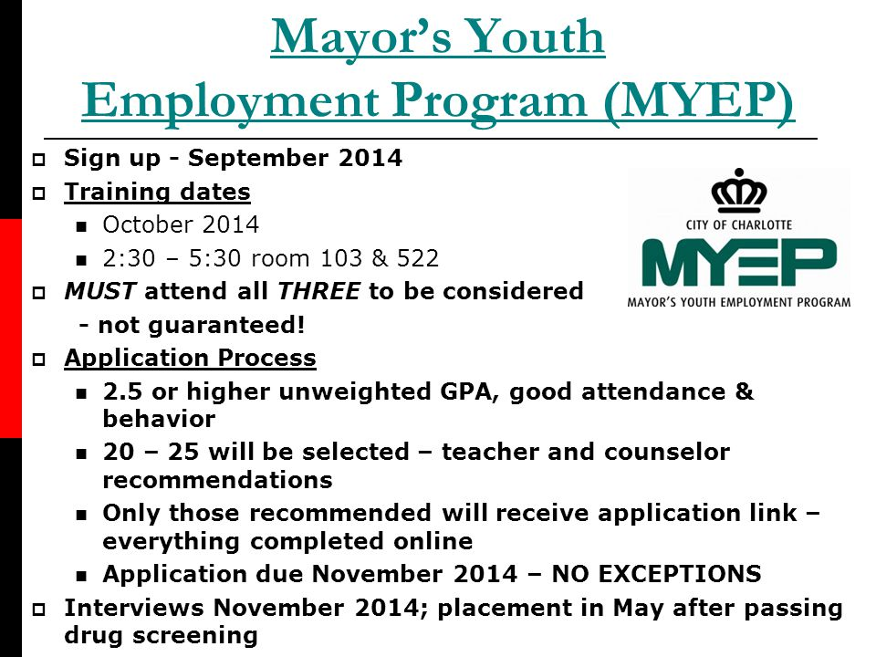 Mayor's Youth Employment Program (MYEP)