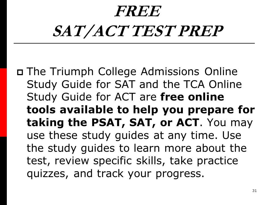 FREE SAT/ACT TEST PREP