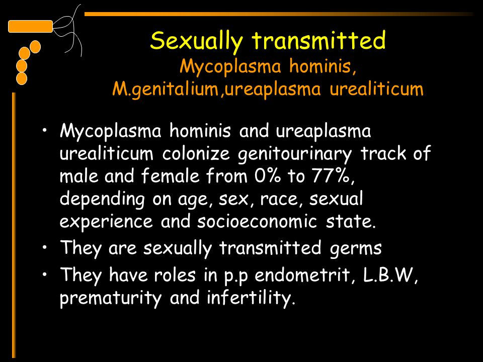 Sexually transmitted Mycoplasma hominis, M