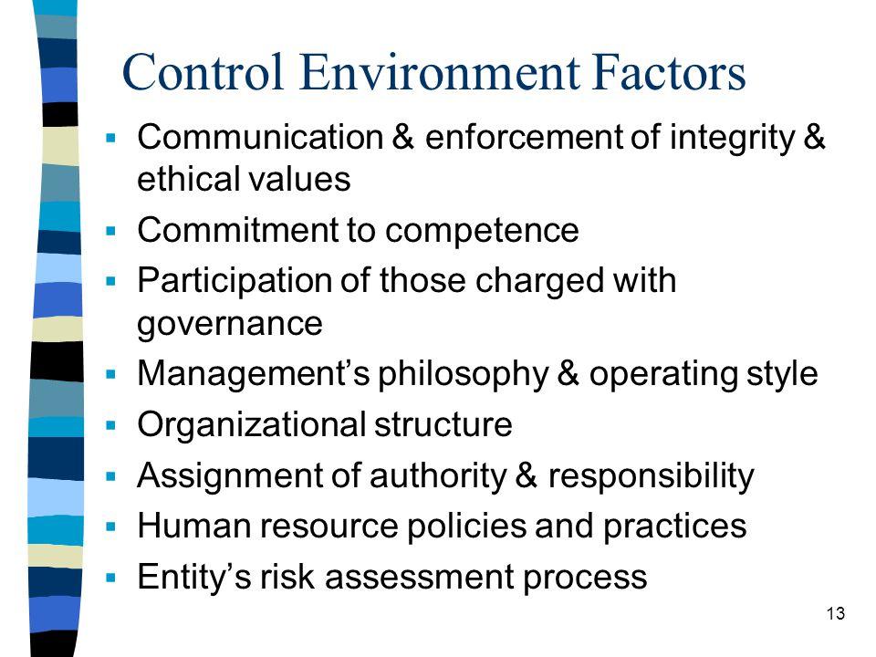 Control Environment Factors