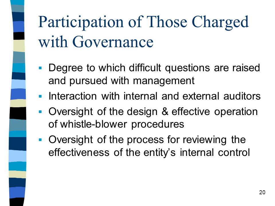 Participation of Those Charged with Governance