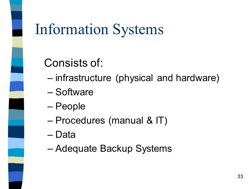 Information Systems Consists of: