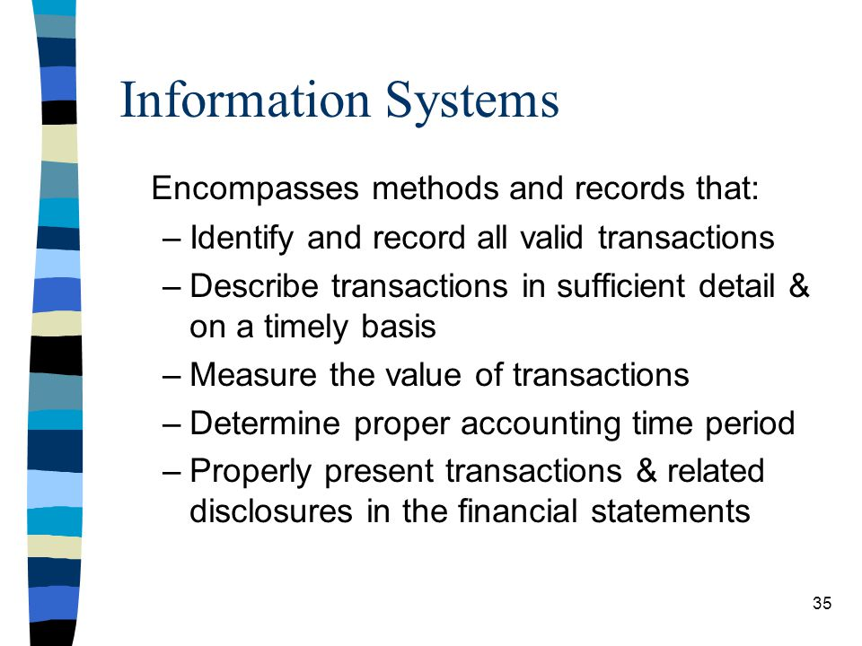 Information Systems Encompasses methods and records that: