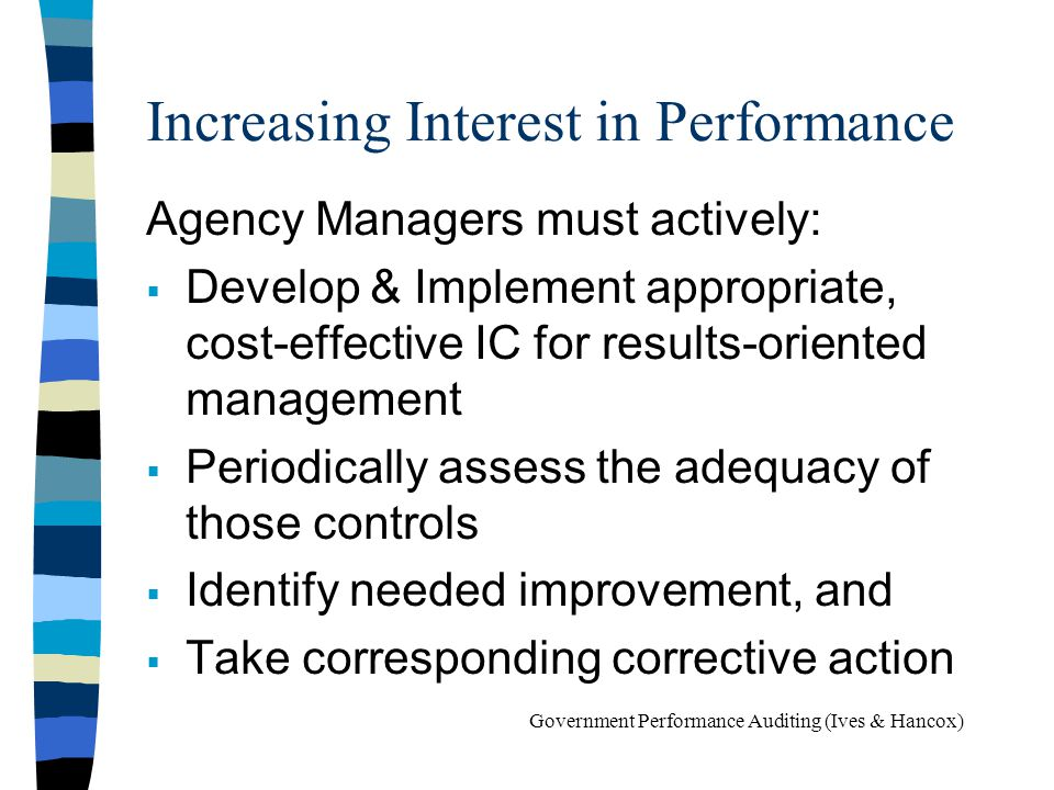 Increasing Interest in Performance