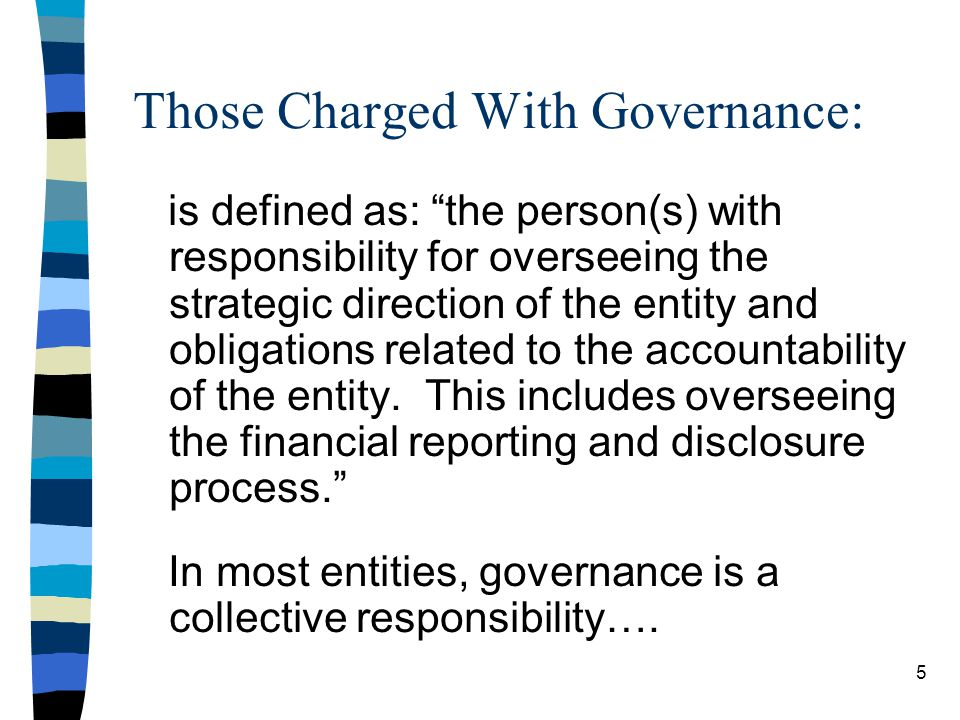Those Charged With Governance: