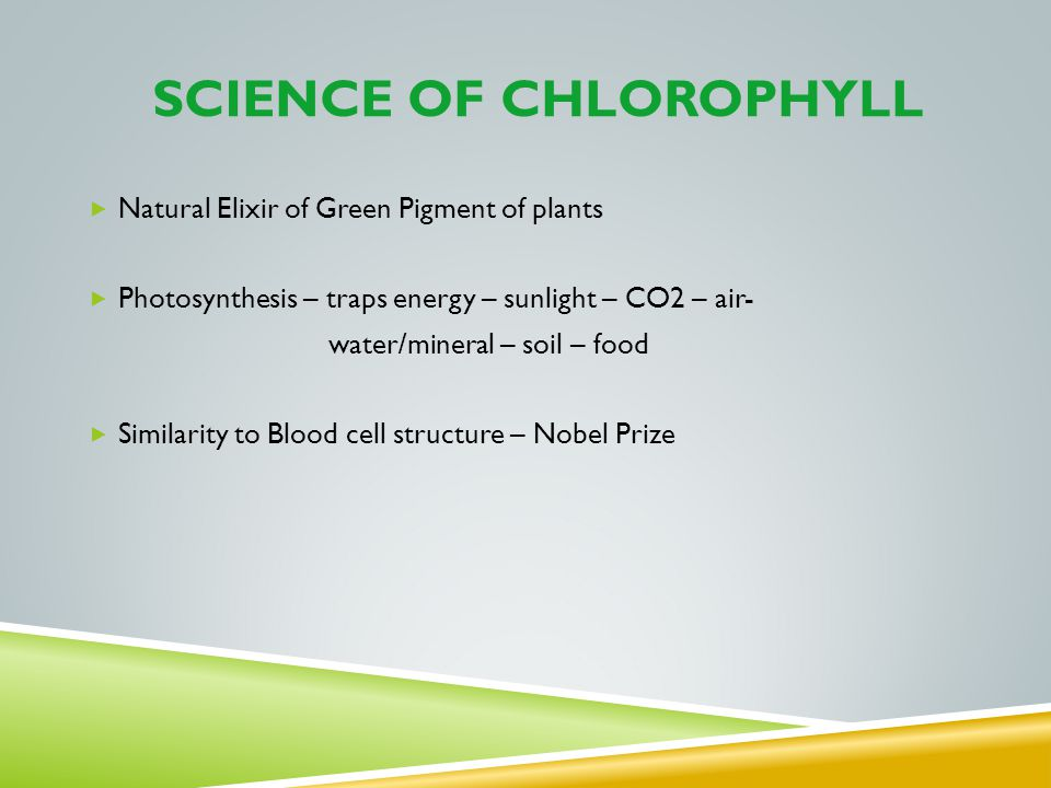 Science of Chlorophyll