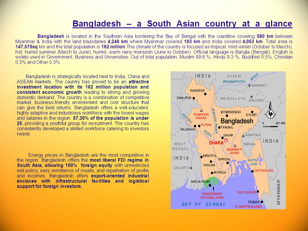 Bangladesh – a South Asian country at a glance