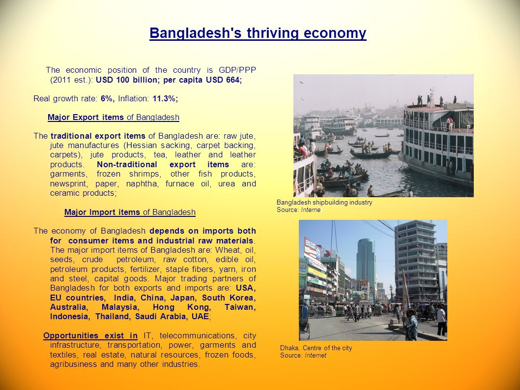 Bangladesh s thriving economy