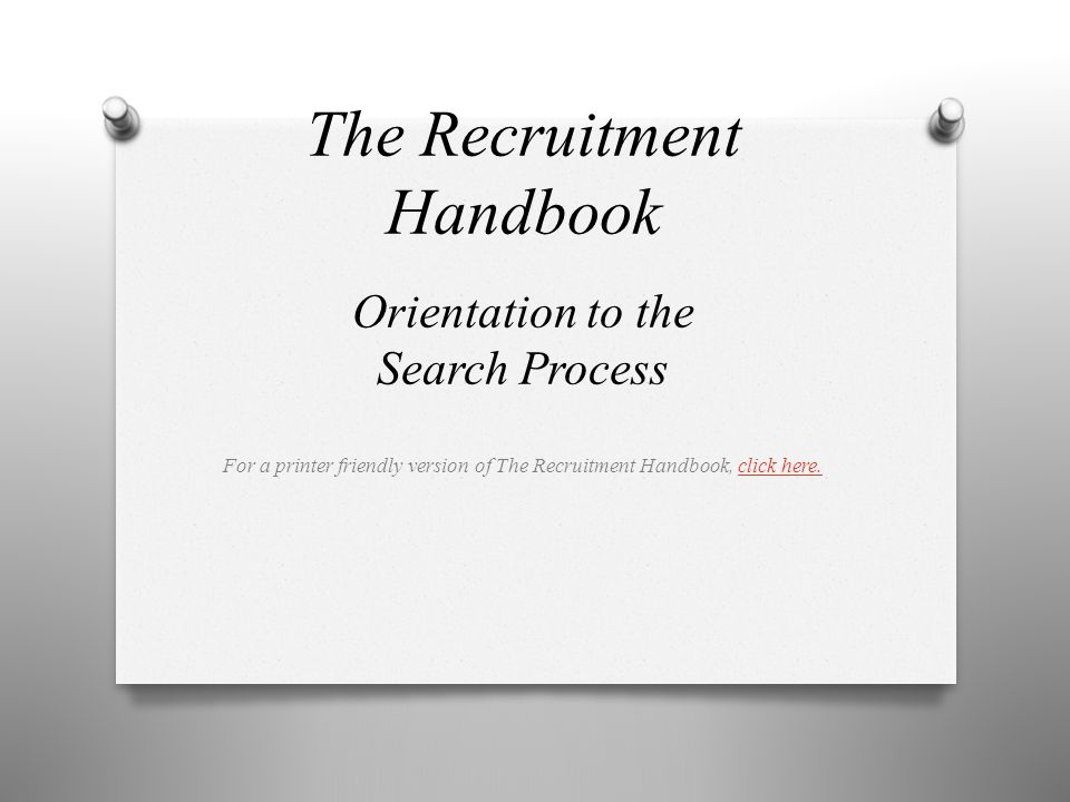 The Recruitment Handbook
