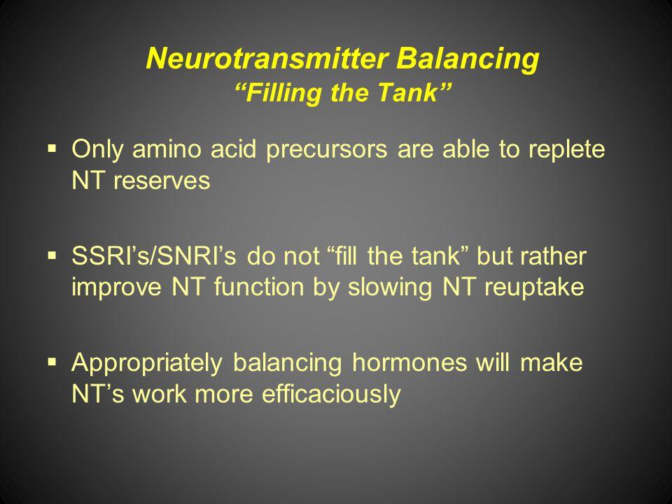 Neurotransmitter Balancing Filling the Tank