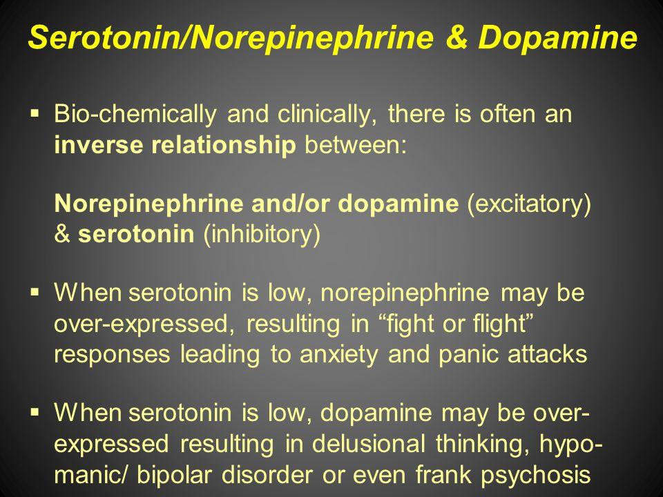 Serotonin/Norepinephrine & Dopamine