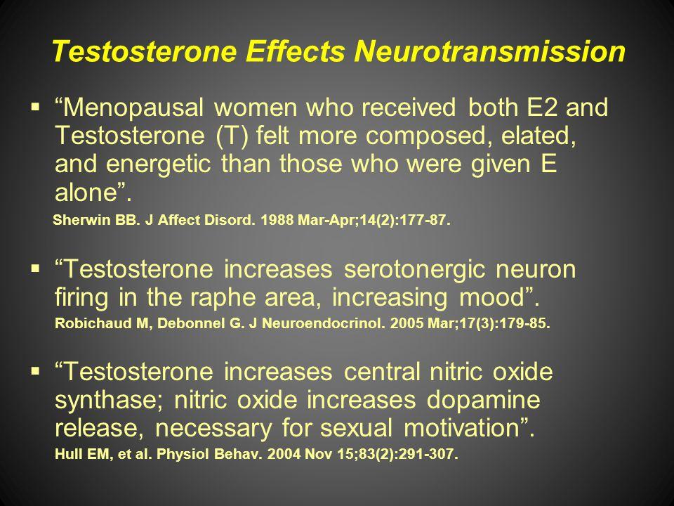 Testosterone Effects Neurotransmission