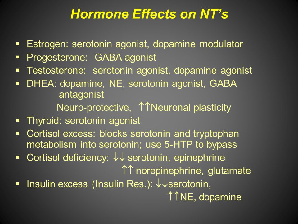 Hormone Effects on NT's