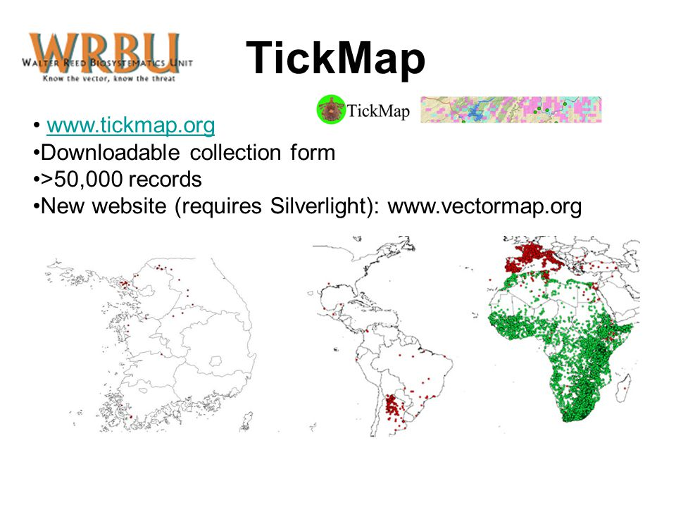 TickMap www.tickmap.org Downloadable collection form