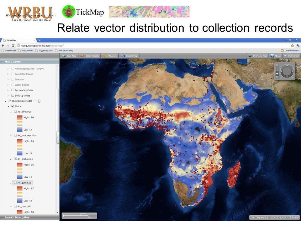 Relate vector distribution to collection records
