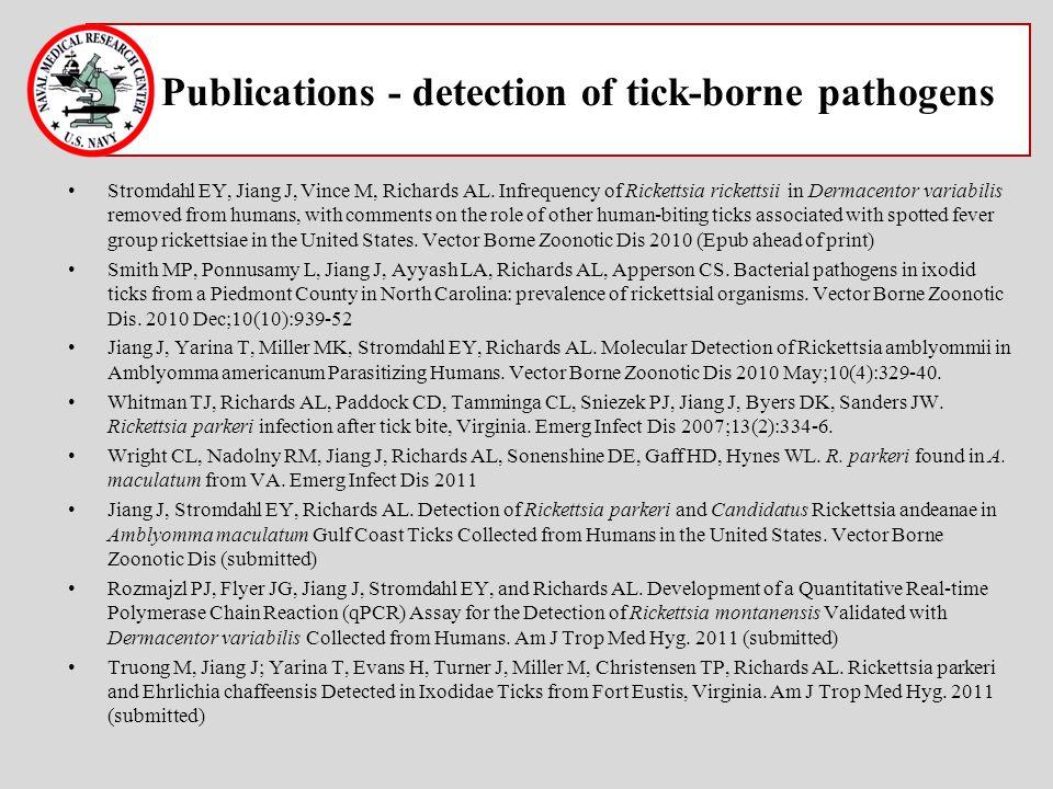 Publications - detection of tick-borne pathogens